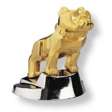 Gold Bulldog Hood Ornament