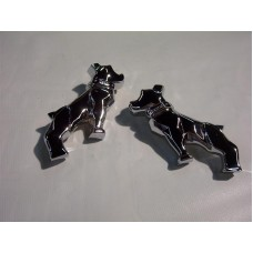 Chrome Half Dog Set