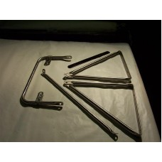 R-Model Stainless Mirror Arm Set (Left)