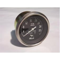 Tachometer Head with Bulldog Logo